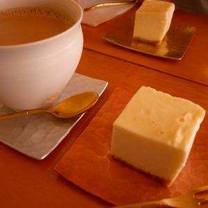 カフェオレとチーズケーキ@abeki